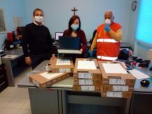 Consegna laptop per la didattica a distanza